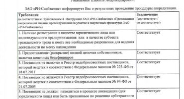 Процедура аккредитации в компании Роснефть – что, как, зачем